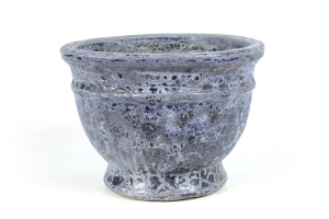 Pot Iron antique - Bleu - 53X38 cm