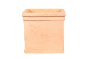 Pot carré en terre cuite - 37X37X36 cm