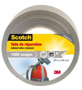 Toile de réparation Premium - 3M Scotch - 50 m x 48 mm - Gris