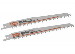 Lame de scie sabre - AEG - 150 x 4 mm - Lot de 2
