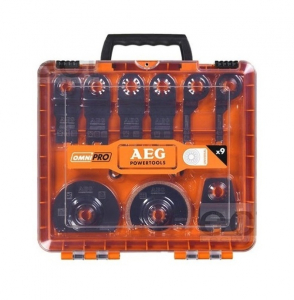 Coffret 11 accessoires pour Multitool - AEG - 9 lames + 2 adaptateurs