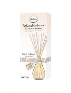 Bouquet parfumé Bois de Cachemire - Tiges rotin - 100 ml - Galeo