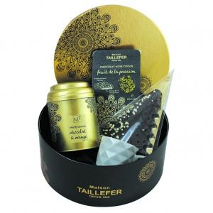 Coffret boîte ronde jardin or - Maison Taillefer - 275 gr