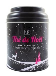 Thé noir de Noël orange fruits rouges & cannelle - Maison Taillefer - 100 gr