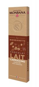 Barre chocolat au lait cappuccino - Monbana - 40 gr