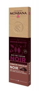 Barre chocolat noir ganache chocolat noir - Monbana - 40 gr