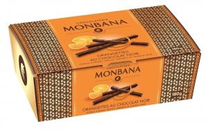 Ballotin orangettes au chocolat noir - Monbana - 180 gr