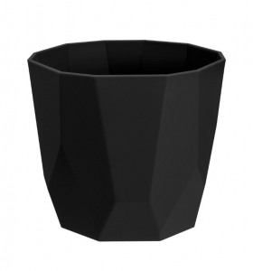 Cache-pot B.for Rock Rond - Elho - Living Noir - 16 cm