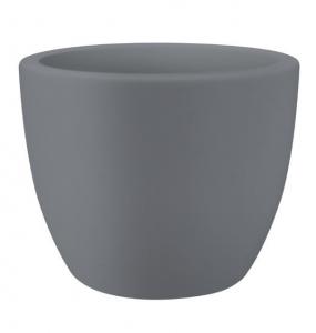 Pot Pure Soft Round Wheels - Avec roues - Elho - Ø 39 x 30 cm - Gris Concrete