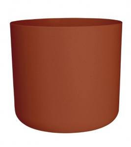 Cache-pot B.for Soft rond - Elho - Brique - 14 cm