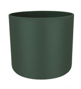 Cache-pot B.for Soft rond - Elho - Vert Feuille - 14 cm