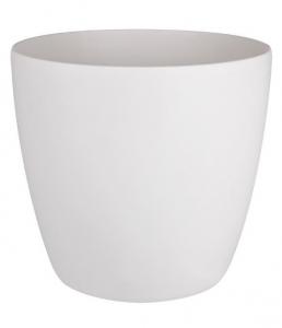 Pot Brussels Rond Roues - Elho - 40 cm - Blanc