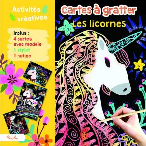 Cartes à gratter - Les licornes
