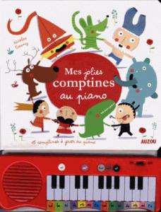Mes jolies comptines au piano - Livre enfant