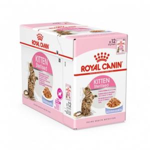 Sachets Kitten Sterilised Gelée pour chaton stérilisé - Royal Canin - 12 x 85 g