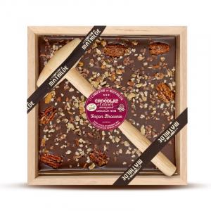Chocolat noir façon Brownies à casser avec maillet - 400 g - Le comptoir de Mathilde