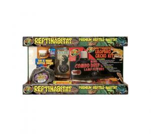 Kit terrarium complet - Reptihabitat - Gecko Léopard - 10 Gallons - NT-L10E