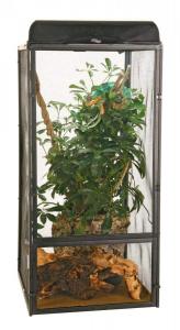 Terrarium grillagé pour reptiles - ReptiBreeze NT12 - Large - 46 x 46 x 91 cm