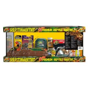 Kit terrarium complet - Reptihabitat - Tortues terrestres - 68 L - NT-T24E
