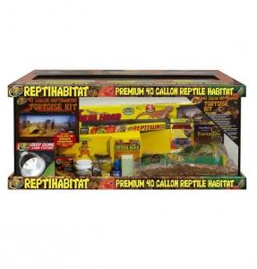 Kit terrarium complet - Reptihabitat - Tortues terrestres - 40 Gallons - NT-T41