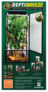 Terrarium grillagé pour reptiles - ReptiBreeze NT13 - Extra Large - 61 x 61 x 122 m