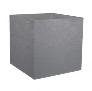 Pot carré Volcania - EDA - 57 L - Gris Galet