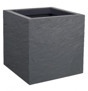 Pot carré Volcania UP - EDA - 21 L - Gris Galet