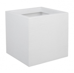 Pot carré Graphit UP - EDA - 21 L - Blanc cérusé