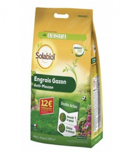 Engrais gazon anti-mousse - Solabiol - 350 m² - 14 kg