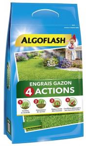Engrais gazon 4 actions - Algoflash - 600 m² - 24 kg