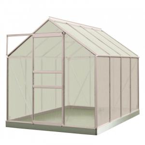 Serre Ivy en polycarbonate 4 mm - ACD - 5 m² - Alu Naturel