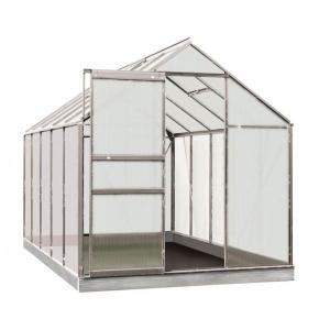 Serre Lily en polycarbonate 4 mm - ACD - 6.2 m² - Alu Naturel