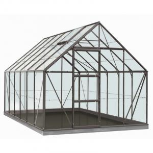 Serre Oliver en verre sécurit 3 mm - ACD - 9,9 m² - Gris Anthracite