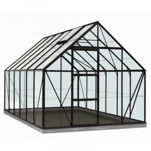 Serre Oliver en verre sécurit 3 mm - ACD - 9,9 m² - Noir