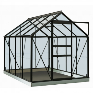 Serre Ivy en verre sécurit 3 mm - ACD - 5 m² - Noir