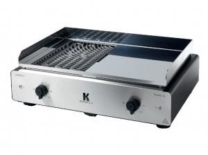 Le Duo Barbecue/Plancha Duo K de Krampouz vous offre un combine grill et plancha grâce a ses deux plaques pour cuire au mieux tous les aliments !