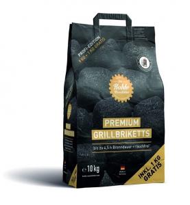 Briquettes pour grill premium - Khole - 10 kg (dont 1 gratuit)