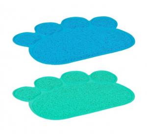 Patte tapis de litière pour chat - Flamingo - 40 x 30 cm - Vert ou bleu