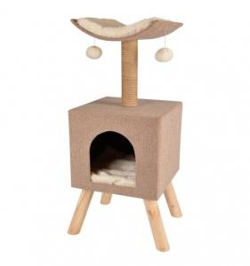 Arbre à chat Scandi Home - Flamingo - 35 x 35 x h 83 cm - Beige