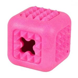 Jouet en mousse Dina Cube pour chien - Framboise - Flamingo - 7 cm - Rose