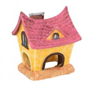 Petite maison 'Fantasia' pour hamsters - Flamingo - 8,5 x 8 x 10,5 cm - Rose et jaune