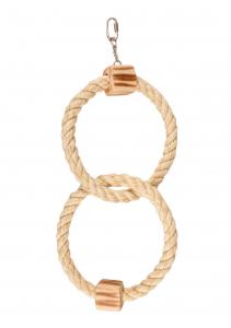 Accessoires perruche - Flamingo - 2 anneaux en corde