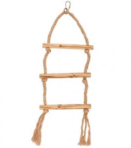 Accessoires perruche - Flamingo - Balançoire triple en corde - 12 cm