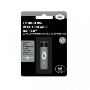 Piles rechargeables batterie solaire - SuperBright - Lithium-ion - 3,2 V