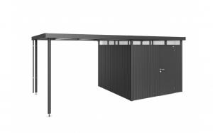 Auvent - Abri de jardin Highline - Taille 4 - gris foncé - 275 x 282 x 222 cm