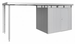 Auvent - Abri de jardin Highline - Taille 2 - argent - 195 x 282 x 222 cm