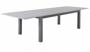 Table ARANO 200/305X100 Extensible - Sidji - Aluminium - Gris Astral/Beige