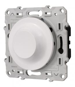 Variateur universel et LED - Schneider - 2 fils - Odace - Blanc - À composer