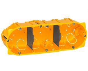 Boîte d'encastrement Batibox - Legrand - 3 postes - 40 mm