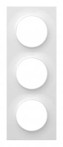 Plaque 3 postes - Schneider - Odace Styl - Blanc - À composer